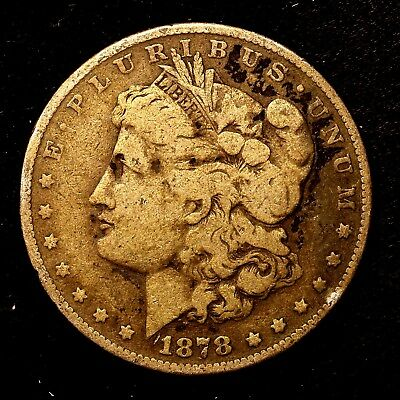 1878 S ~**1ST YEAR ISSUE**~ Silver Morgan Dollar Rare US Old Antique Coin! #316