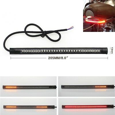 Motorcycle Integrated 48 LED Light Strip Rear Tail Brake Stop Turn Signal Lamps