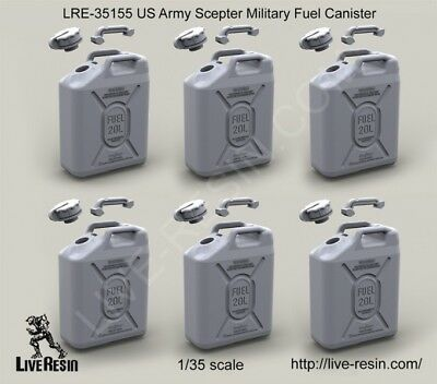 Live Resin LRE35155 1/35 US Scepter Military Fuel Canisters (6pcs)
