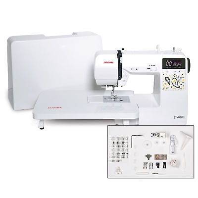 Janome JW8100 Fully-Featured Computerized Sewing Machine With 100 Stitches, 7