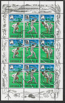 GUYANA 1968 MCC CRICKET TOUR WEST INDIES Sheetlet 3 Strips CRICKET Selvedge USED
