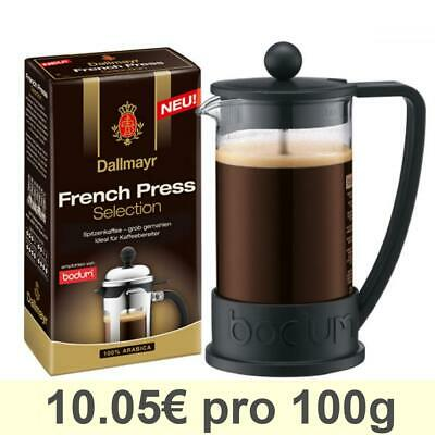 Bodum Brazil Cafetière à piston 3 Tasses + Dallmayr French Press Selection 250g