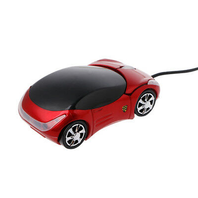 Practical Computer Parts USB Wired 3D Optical Car Shape Mouse 2 Headlights S2U2