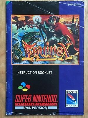 Equinox (SNES) UK PAL Edition - Manual Only