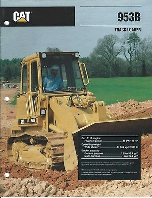 Equipment Brochure - Caterpillar - 953B - Track-type Loader - 1992 (E4250)