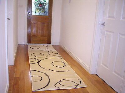 Hallway Runner Cream Modern Hall Runner Rug FREE DELIVERY 3 Metres Long