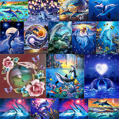 5D DIY Dolphin Series Diamond Painting Embroidery Cross Stitch Kits Handicrafts