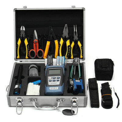25-in-1 RS901 Fiber Optic FTTH Tool Kit Power Meter FC-6S Optical Cleaver W/Box