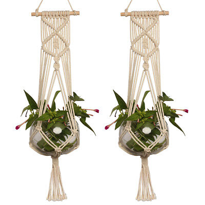 Large Pot Holder Macrame Plant Hanger Hanging Planter Basket Hemp Rope Braided