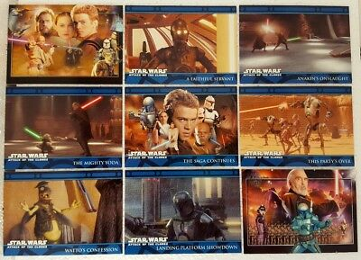 Star Wars Episode II ATTACK OF THE CLONES UK Card Set of 105 topps  2002