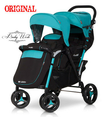 EasyGO  FUSION twin stroller/pushchair  + FREE  EXTRAS !!!