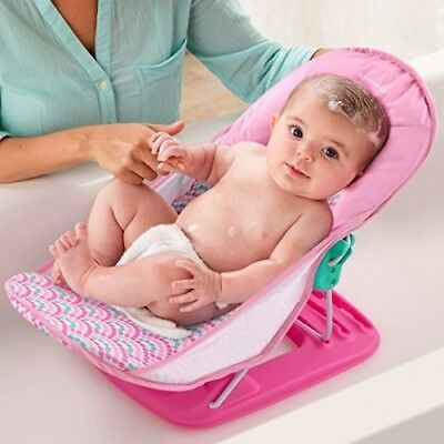 Deluxe Baby Bather Infant Tub Safe Head Cradle Support Foldable Bath Seat Bubble