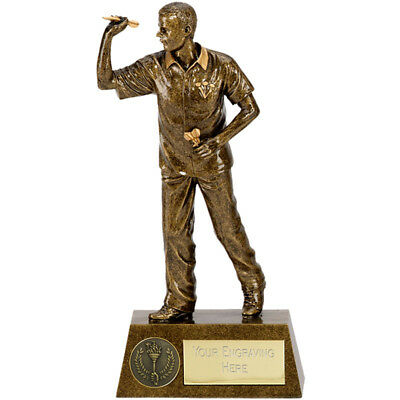 "DARTS Player Trophy FREE ENGRAVING Personalised Engraved Award 7.25"" or 8.75"""