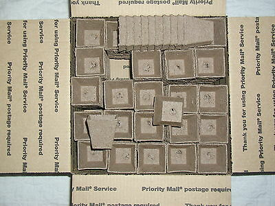 """300-2 1//4/"""" DIA.JIFFY PEAT POTS for SEED STARTING//GREENHOUSE SUPPLIES OMRI LISTED"""