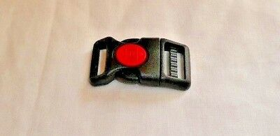 20mm Curved Side Release Buckle with Red Centre Lock Button, 1, 2, or 10