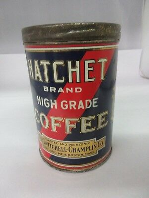 Vintage Hatchet Coffee With Original Lid  Advertising Collectible 786-W