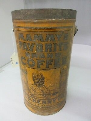 Vintage 4 Lb Mammy's Coffee With Original Lid  Advertising Collectible 429-U