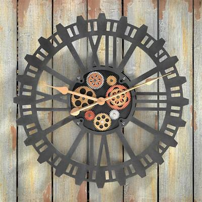 Mechanically Inclined Steampunk Sprockets & Gears Timepiece Wall Clock
