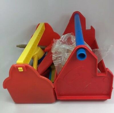 Large Lot Vintage Play Tools Stanley Works Playtime Fisher Price Tool Box