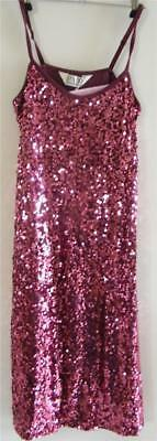 Peter Alexander Pink Champagne Luxe Sequin Slip / Dress Size S  NWT