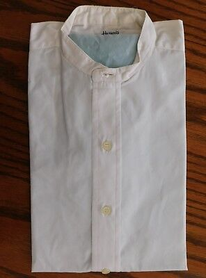 Harrods tunic shirt 15 vintage 1960s mens collarless every-day clothes DARNED
