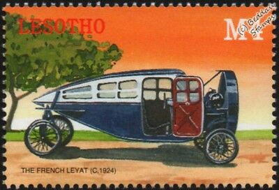 1924 French LEYAT HELICA Mint Automobile Propeller Car Stamp (2000 Lesotho)
