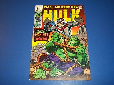 Incredible Hulk #119 Solid Silver Age VG- Inhumans