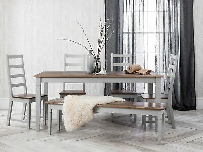 Dining Table and Chairs Dark Pine and Grey Dining Set Extending Canterbury
