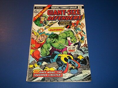 Giant Size Defenders #4 Bronze Age Squadron Sinister Nice Fine Beauty