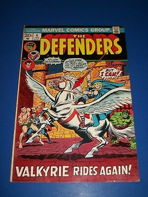 Defenders #4 Bronze Age Fine Beauty Wow Valkyrie Joins 1st on Team Key!