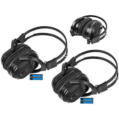2 Fits 2002-2016 Cadillac Escalade Wireless Fold IR In DVD TV Headphone Headset