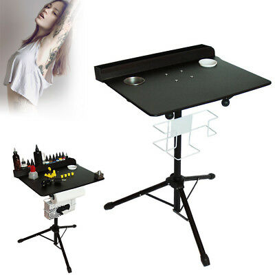 Mobile Tattoo Ausstellungsstand Workstation Adjustable Fixed Desktop Schwarz DE