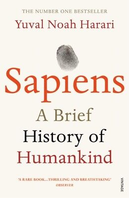 Sapiens A Brief History of Humankind by Yuval Noah Harari New Paperback Book