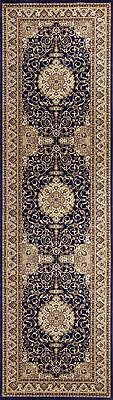 Hallway Runner Hall Runner Rug Traditional Navy Blue 4 Metres Long x 80cm 427