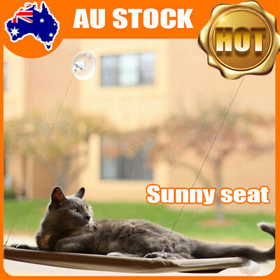 2x Cat Window Mounted bed Seat Pets Sunny Hammock Washable AU