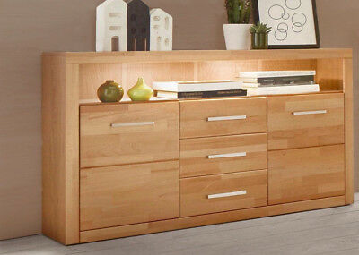 sideboard fenja anrichte schrank kommode in wildeiche massiv ge lt und furniert eur 435 95. Black Bedroom Furniture Sets. Home Design Ideas