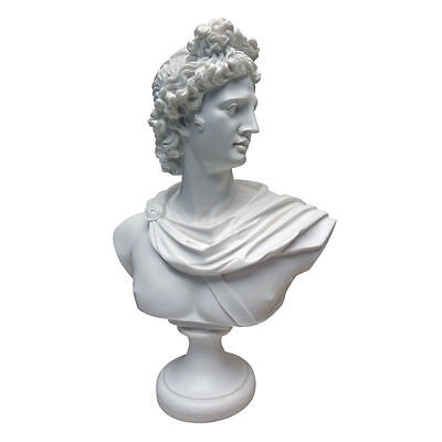 Ancient Roman Replica God Pythian Apollo Greek Bonded Marble Bust Sculpture NEW