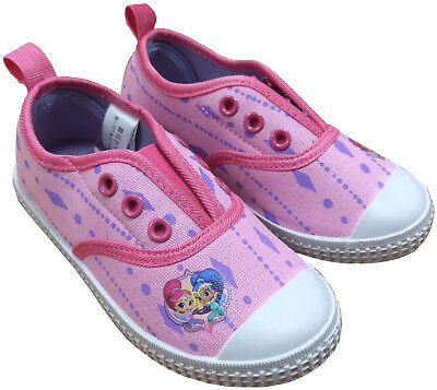 Shimmer & Shine Slip On Canvas Trainers Childrens Size Girls Beach Shoes 60273