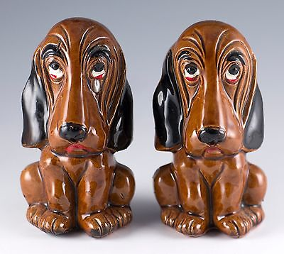 Vintage Ceramic Dog Crying Pair of Salt and Pepper Shakers Enesco Japan