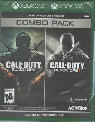 Call of Duty: Black Ops 1 & 2 Combo Pack [Xbox 360 XBOX One Shooter FPS] NEW