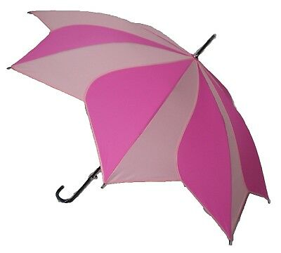Blooming Brollies Swirl Auto Stick Umbrella - Double Pink