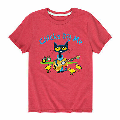 Pete The Cat Chicks Dig Me - Toddler Short Sleeve Tee Shirt