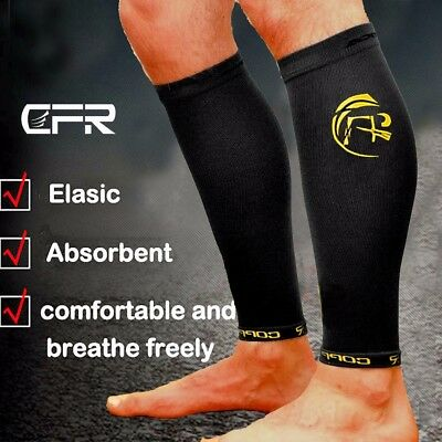 74125b2ad4 Copper Infused Calf Leg Compression Sleeve Socks Joint Shin Splint Support  Brace