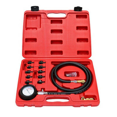 Engine Oil Pressure Test Kit Tester Car Garage Hand Tool Low Oil Warning Devices