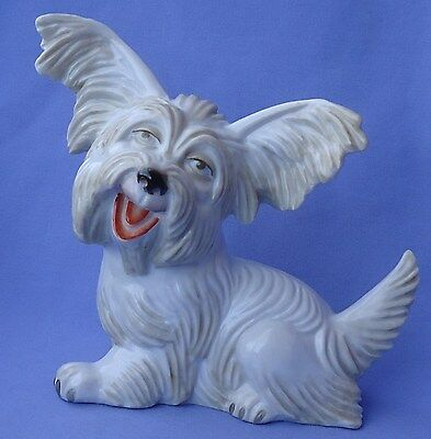 "1930 Rosenthal 9"" Papillon Skye Silky Terrier Briard Dog Germany"