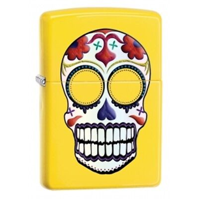 Lemon Day Of The Skull Zippo Lighter - Dead Windpro Brand New