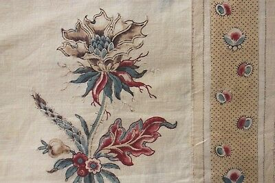 Provence Provencal Antique French fabric 18th century 1770