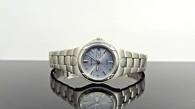 Citizen Eco-Drive Day & Date Gray Dial Silver Tone Stainless Steel Women's Watch