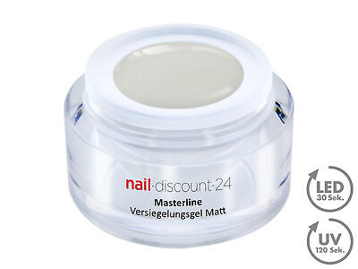 Premium Masterline Versiegelungs Gel Seiden MATT LOOK UV LED 30ml Finish Nagel