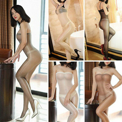 Women Gloss Sheer Tights Pantyhose Tights Crotchless Nightwear Body Stockings